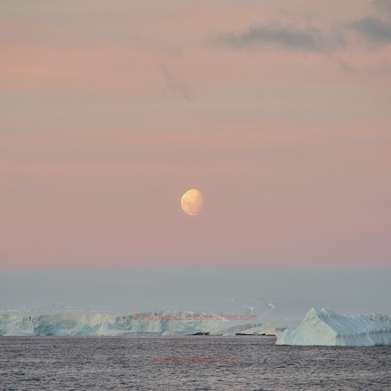 Moonset, Adelaide Island - Moonset over Adelaide Island, Antarctic Peninsula