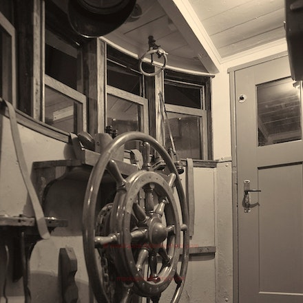 wheelhouse - In the Herring Factory Museum, Siglufjördur