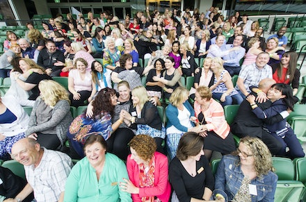 OzChild - Group shot of the OzChild staff at their conference at the MCG