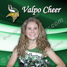 Valpo Cheer Banner Poses - 8/14/15 - Valpo Cheer Banner poses.