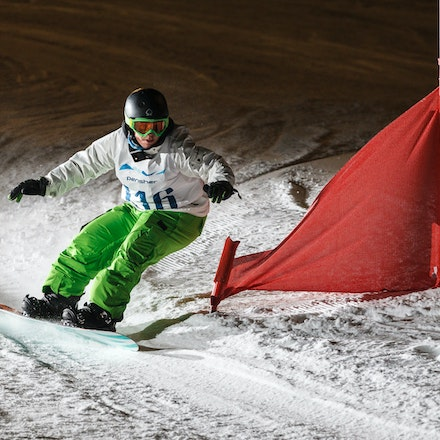 140811_DefenceForce_3063 - Army/Navy/Airforce athletes competing during night dual snowboard race at Perisher, NSW (Australia) on August 11 2014. Photo:...
