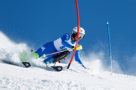 140813_FIS_SL1_3434 - Athlete competing in SSA FIS Slalom race on Hypertrail at Perisher, NSW (Australia) on August 13 2014. Jan Vokaty