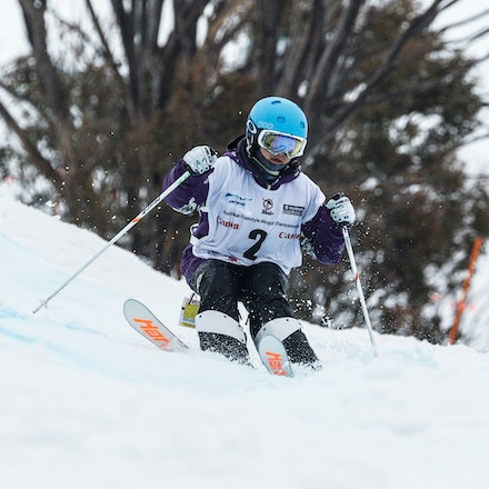 140819_Moguls_5827 - Athlete competing during day 1 of the Canon Australian Freestyle Mogul Championships at Perisher, NSW (Australia) on August 19 2014....
