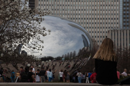 """MG_2287 Cloud Gate, Chicago - Cloud Gate (""""The Bean""""), 2004 Anish Kapoor Millennium Park East of North Michigan Avenue, on axis with East Washington..."""