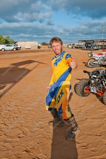 2015 (23-10-2015) Gascoyne Dash Prolouge - Carnarvon Race Course - Competitors vie for their fastest time - the favourites are looking for the dust free...