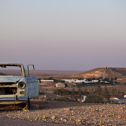 Coober Pedy at Sunset - The isolated opal mining town of Coober Pedy  -  outback South Australia