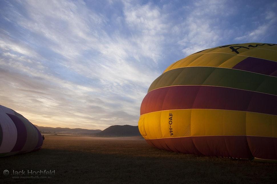 Hot air balloon ride, Hunter Valley - Hot air balloon ride in the Hunter Valley, New South Wales.