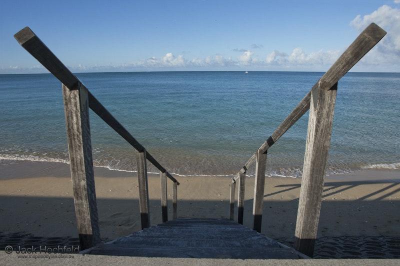 Steps to the sea, Lord Howe Island - Steps leading down to the sea, Lord Howe Island