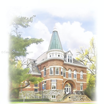 Ezra Gillis Building, University of Kentucky/Digital Watercolor_2430_55 - Photo by Campus Photos USA. The Ezra Gillis Building on the college campus of...