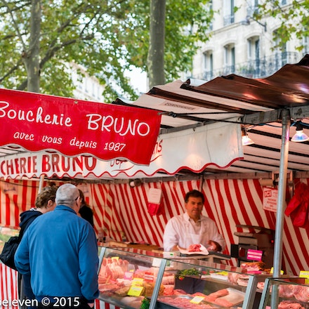 One of the many colourful market stalls at the Marais Markets 9671