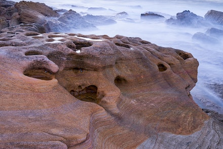 061 Bare Island 130616-9187-Edit-Edit - The plan was the sunrise, we had thick cloud so the sand stone rocks took my attention.