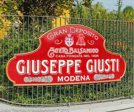 077 Bologna 261015-2590-Edit - Balsamic Vinegar makers since 1605 Giuseppe Giusti, Modena, Italy.