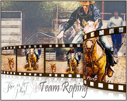 Team Roping - This is how I play. inspirational wall art to brighten your home or office.