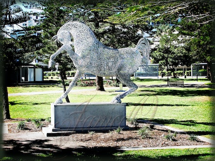Man made Horses - Statues, carousel horses, scultures of horses.