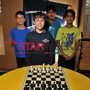 Cambridge Primary School chess team - Pictures: Damjan Janevski