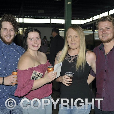 151107_SR24854 - Clayton frost, Phoebe leard-lamont, Alex Brookes, Edward McDonald at the Sportsmans Dinner in Barcaldine, Saturday November 7, 2015....