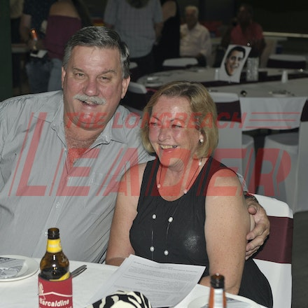 151107_SR24868 - Darryl & Mary O'Donnell at the Sportsmans Dinner in Barcaldine, Saturday November 7, 2015.  sr/Photo by Sam Rutherford.