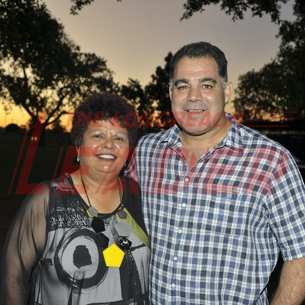 151107_SR24890 - Kerry Thompson and Mal Meninga at the Sportsmans Dinner in Barcaldine, Saturday November 7, 2015.  sr/Photo by Sam Rutherford.