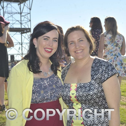 160709_SR22481 - Catherine Garry and Kelli Doyle at the Ilfracombe Races, Saturday July 9, 2016.  sr/Photo by Sam Rutherford