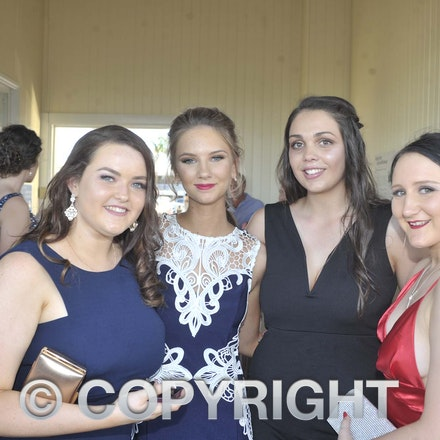 161118_SR24983 - Brittney Harris, Ali Whitby, Khalli Rowlands and Graceanne Waterford  at the Longreach State High School's Year 12 Formal photo call at...
